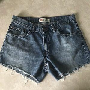 Levi's 505 cutoff shorts